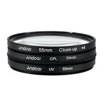 Filtro Kit 55mm Uv+cpl+clouse Canon Nikon Pronta Entrega