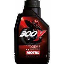 Óleo Motor Moto Motul 300v 15w50 4t Sintético 1lt