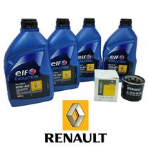 Kit Troca De Oleo Original Renault 1.0 Total Elf 10w40