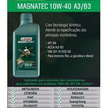 4 Litros Óleo Motor Auto Castrol Magnatec 10w40 Api Sn