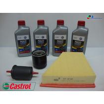 Kit Troca Oleo Castrol 5w40 + Filtros Fox Crossfox 1.6 Flex