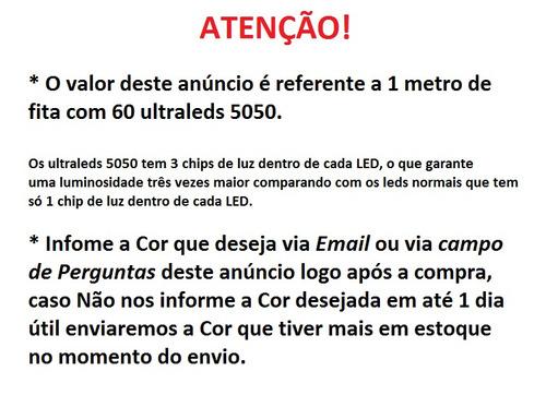 Fita Led *5050 A Prova Dágua Flexível Preço Do Metro Cores!