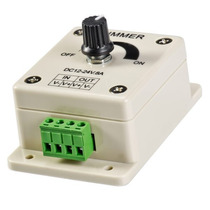 Controle Dimmer Rotatório Analógico 12v Led P/ Fita Lâmpada