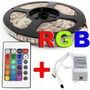 Kit 04 Fita Led Rgb 5050+1 Fonte 15a+2 Amplificador+2 Emenda