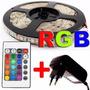 Fita Led Rgb 5050 Rolo 5m 300 Leds + Controle + Fonte 3a