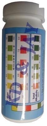 Fita Teste 3 Em 1 Piscina 50 Fitas Alcalinidade Ph Cloro