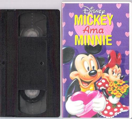 Fita Vhs Disney Mickey Ama Minie