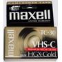 Fita Vhs-c Tc-30 Maxell Hgx-gold - Lacrada