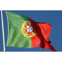 Bandeira Portugal 1,5mx90cm Festas Decoração