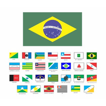 Kit 27 Bandeiras Estados Brasileiro Brasil 1,00x0,70 +brinde
