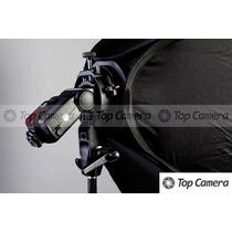 Softbox Speedlight Dobrável 60x60cm P/ Flash Dedicado+ Tripé