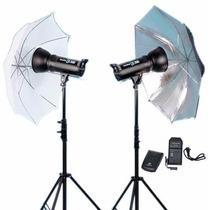 Kit Studio Fotografico 600w Profissional Greika Apolo 2 110v