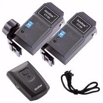 Kit Radio Flash Godox Ct-04 - 1 Transmissor E 2 Receptores