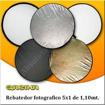 Rebatedor Fotografico 5x1 De 1,10mt. Com Case De Transporte.