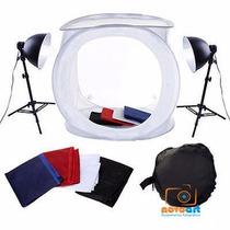 Kit Tenda Mini Estudio Fotográfico P/ Foto Still 40cm -220v