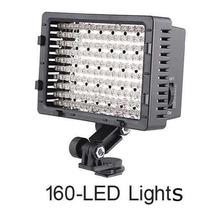 Iluminador Cn-160 Led Para Filmadora E Câmera Fotográfica
