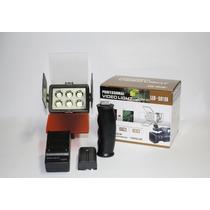 Iluminador Led 5010a Video Light + Bateria + Carregador
