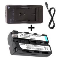 Bateria Np-f570 + Carregador P/ Leds Yn-160s Al-h198 Cn-160