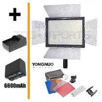 Iluminador De Led Yn-300 + Carreg.+ Bateria, 7800lux, 500w