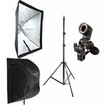 Iluminação Fotografia Filmagem Softbox Sombrinha 60x90 Cm