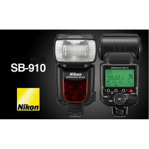 Novo Flash Nikon Speedlight Sb-910 Garantia Mercadoplatinum