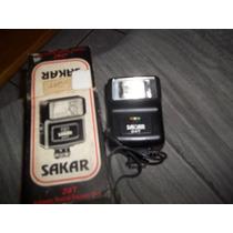 Antigo Flash Sakar 35m Eletronico Camera Maquina Fotografica