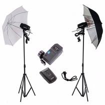 Kit Estúdio Fotográfico Argos Flash 300w K150 Greika 110v