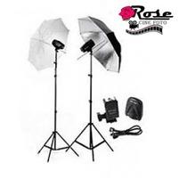 Estúdio Fotográfico Kit K-150 ( 300w. Total ) 110 Ou 220v