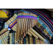 Flauta De Pan Pequenha De Bambu Criança