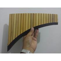Flauta Pan Feita Com Bambu Do Peru