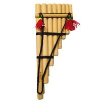 Zanpoña Flauta Pan Peruana Dupla Grande 15 Notas