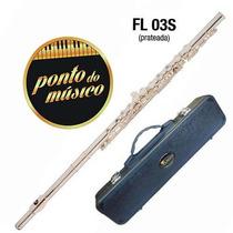 Flauta Transversal Eagle Prateada Fl03s N Fiscal L O J A