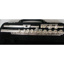 Flauta Transversal Yamaha Yfl200 Advantage Prateada Seminova