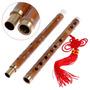 Flauta Chinesa De Bambu Dizi Afinação Fá,capa,nó Chinês