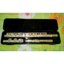Flauta Transversal Eagle Niquelada, 1 Ano De Uso, Zerinha!!