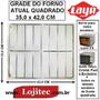 Grade Interna Cromada Para Forno Layr Quadrado ( 35x42 Cm )