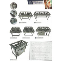 Fogão Industrial De 6 Bocas 30x30 S/forno, A.pressão Stand