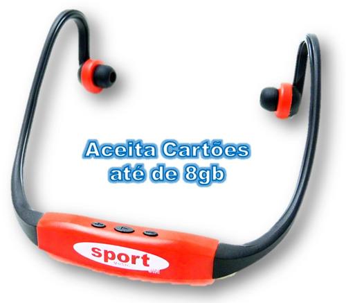 Fone De Ouvido Sem Fio C2 Sport Mp3 Player Entrada Cartão Sd