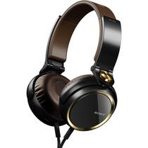 Fone De Ouvido Sony Supra Auricular Mdr-xb600 Marrom Dourado