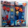 Fone Ouvido Herois Superman Ou Homem Aranha 3,5mm Pc Celular