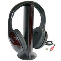Fone De Ouvido Sem Fio Wireless 5x1 Radio Fm Pc Tv Skype