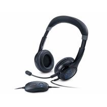 Fone Headset Gamer 7.1 C/ Microfone Led Azul Genius Hs-g450
