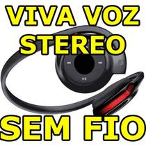 Fone Ouvido Bh503 Sem Fio Bluetooth Fm Micro Sd Viva Voz Mp3