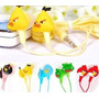 Fone De Ouvido Intra Auricular Angry Birds Silicone Mp3 Mp4