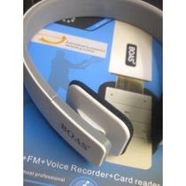 Fone De Ouvido Boas Sem Fio Gravador Headphone Mp3 Radio Fm