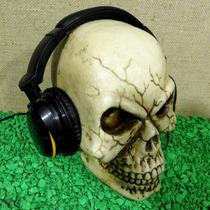 Cranio Gg Headset Fone De Ouvido Caveira Esqueleto Suporte