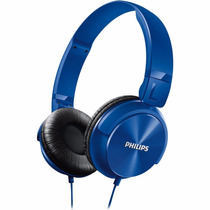 Fone Dj Philips Dj Azul Shl3000 P2 Mp3 Pc Cabo 1,2m