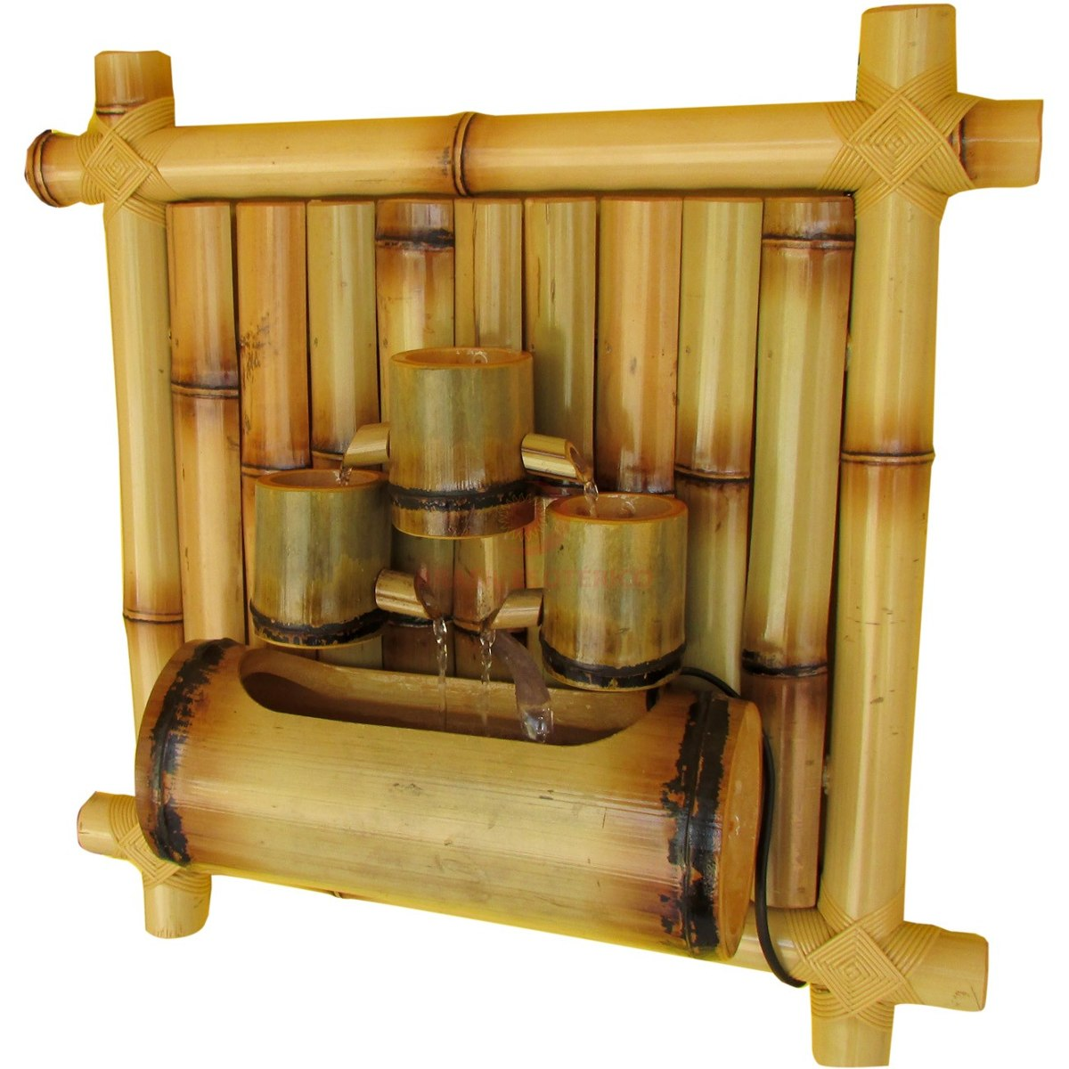 Fonte De Água Bambu De Parede 45cm 110 Volts R$ 133 00 no  #714417 1200 1200