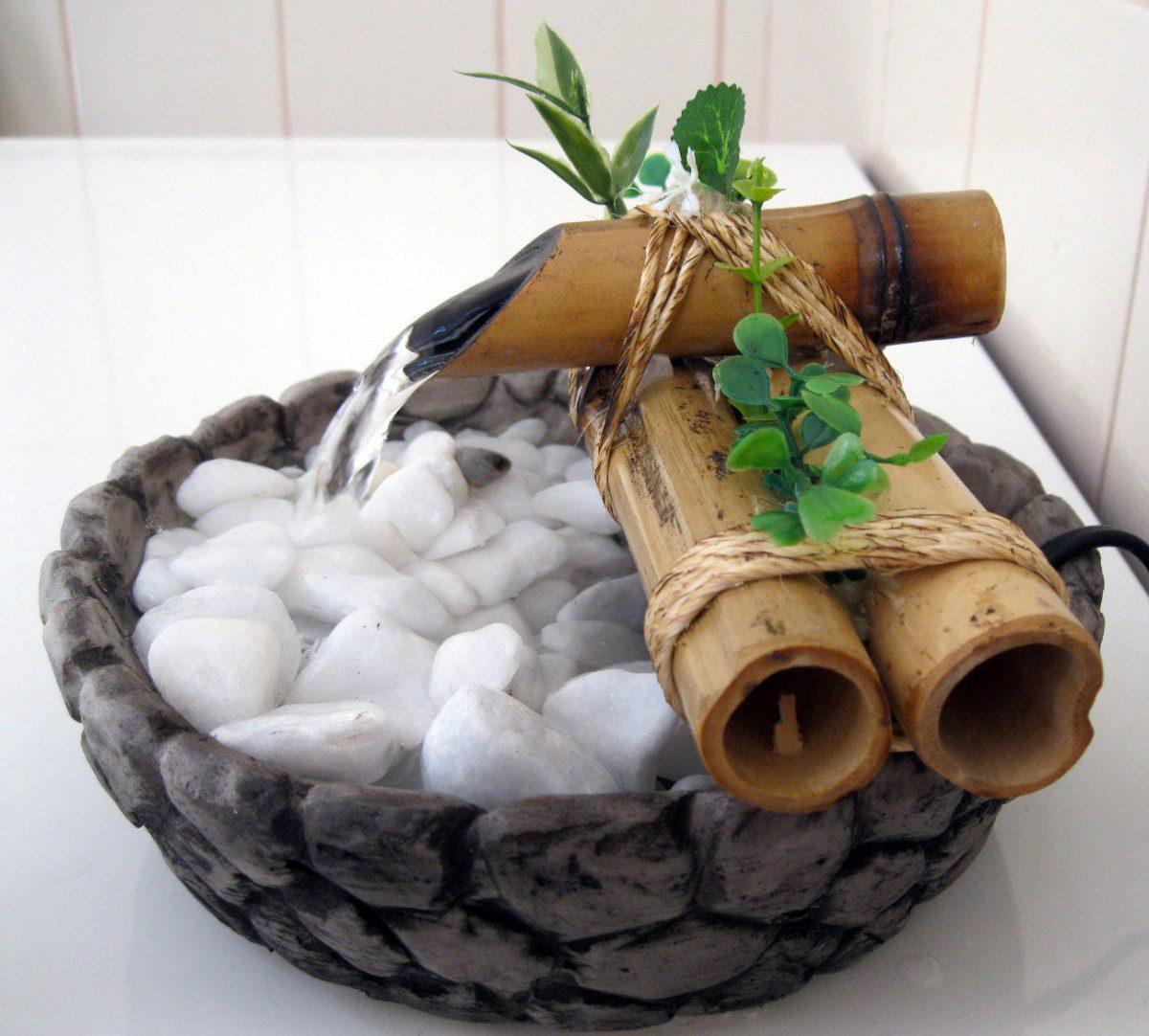 Fonte/agua/cascata/bambu Mini Base Resina Imitando Pedra. R$ 89 00  #67442A 1200 1082