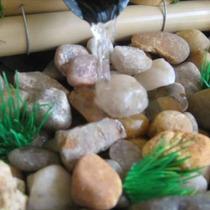 Fonte De Água Feng Shui Bambu E Pedras 3 Quedas